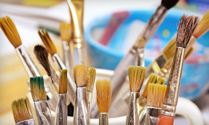 Dallas Handmade Arts Market, Inc - Downtown Dallas: 2- or 3-Hour Painting Class for 1 or 2 at Dallas Handmade Arts Market, Inc (51% Off), Plus a Complimentary Wine or Beer