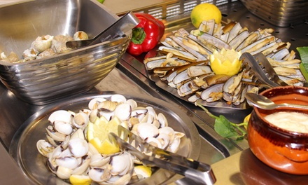 Buffet à volonté pour 2 ou 4 personnes dès 24 € au restaurant Espace Barraca