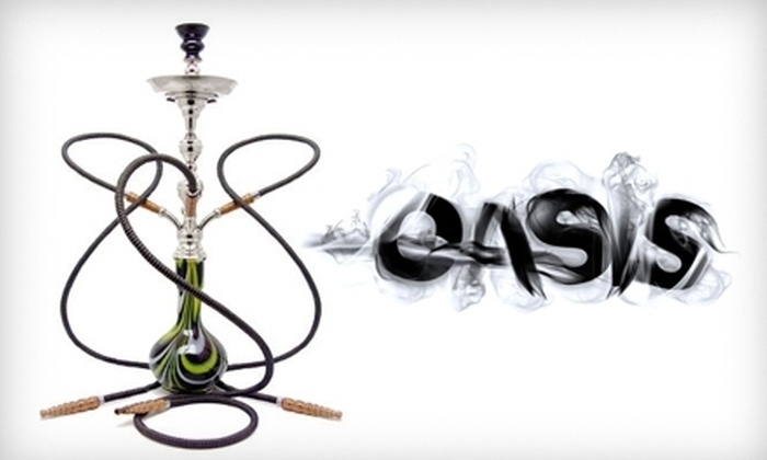 Oasis Hookah Bar - Downtown: Hookah and Cocktails for Two or Four at Oasis Hookah Bar (Up to 56% Off)