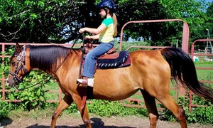 Labzara Ranch: Two or Four Kids' Horseback Rides or Two Adult Horseback Rides at Labzara Ranch (Up to 50% Off)