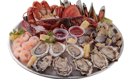 Seafood Ultimate Platter and Wine or $35 Worth of Seafood at Lobster Grill (Up to 43% Off)