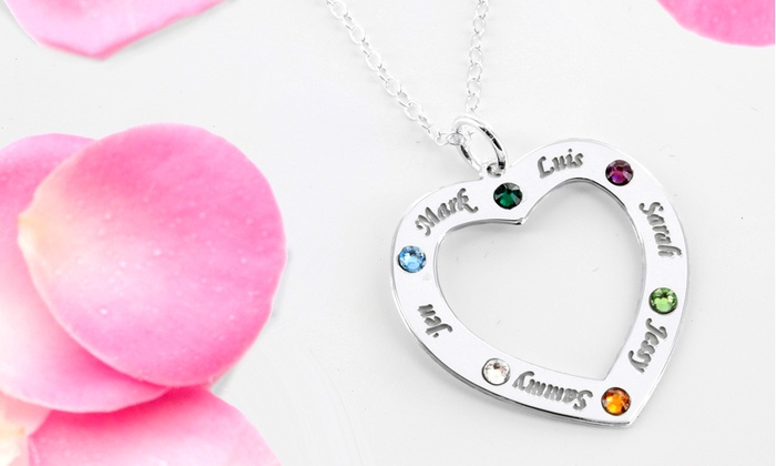 Monogram Online: Necklace Personalized with Family Names and Birthstones from Monogram Online (Up to 68% Off). Two Options Available.