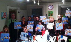 Paint on Main: Up to 53% Off Interactive Painting Class  at Paint on Main