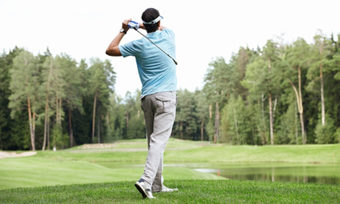 Academy Golf - Academy Golf Teaching Center: 60-Minute Lesson with Swing Evaluation, Lunch, and 18 Holes for One or Two at Academy Golf (Up to 62% Off)