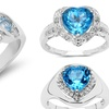 0.65–2.47 CTTW Genuine Topaz Gemstone Rings
