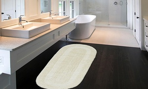 "Double Vanity Bathroom Rugs extra-large 24""x60"" double vanity reversible cotton bath rugs"