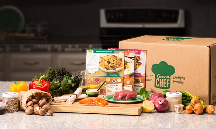 Green Chef: Three Organic Meal Kits for Two or Four People Delivered from Green Chef (Up to 61% Off)