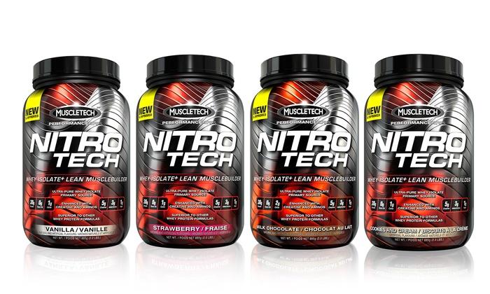 Muscletech nitro tech protein groupon goods - Nitro tech isolate ...