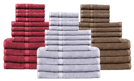 Chateau 100% Egyptian Cotton Quick Dry 12-Piece Towel Set