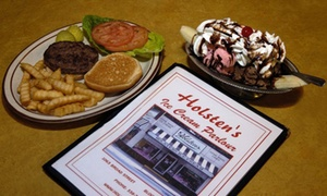 Holsten's: Classic Diner Food and Homemade Ice Cream at Holsten's (Up to 45% Off). Two Options Available.