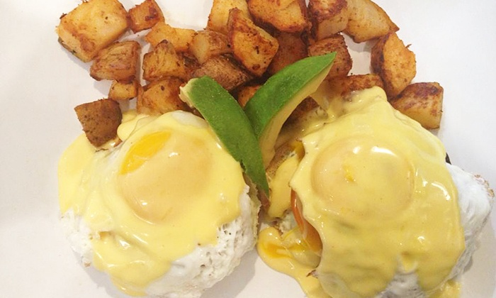 Sunny's Breakfast - Sunny Side: Entrees and Drinks for Two or Four People at Sunny's Breakfast (52% Off). Four Options Available.