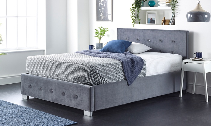 Side Opening Fabric Ottoman Storage Bed