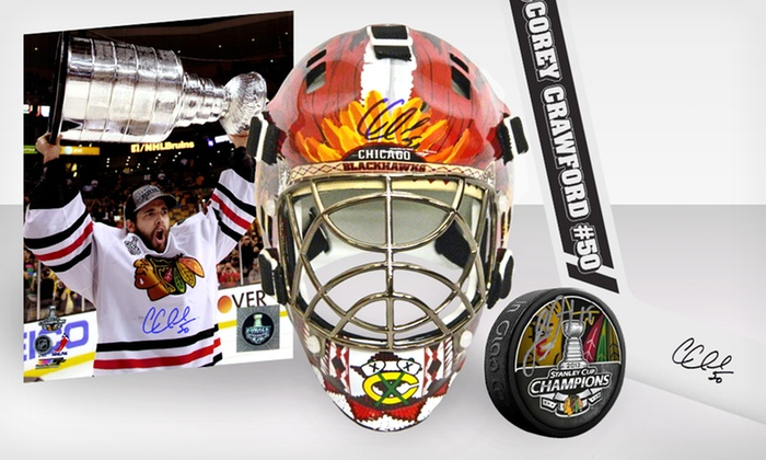 Side Line Marketing Blackhawks Signed Championship Memorabilia: Blackhawks Championship Memorabilia