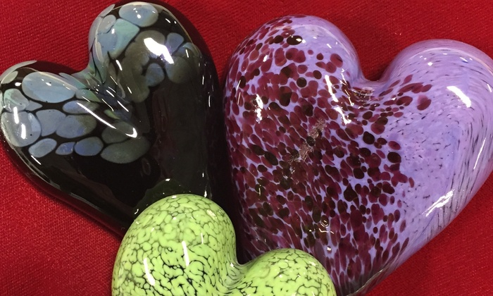 Valentine's Day Glassblowing Class - West Town: Make a Glass Heart for Valentine's Day with an Artist