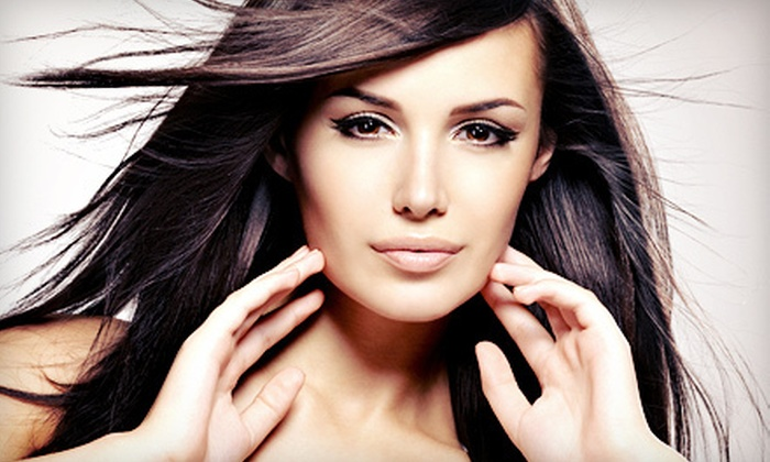 Déjà Vu European Spa & Salon - North Richland Hills: Haircut with a Keratin Treatment or a Brazilian Blowout at Déjà Vu European Spa & Salon (Up to 74% Off)