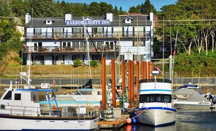 One-, Two-, or Three-Night Stay for Two with a $20 Dining Credit at The Harbor Lights Inn in Depoe Bay, OR from The Harbor Lights Inn -