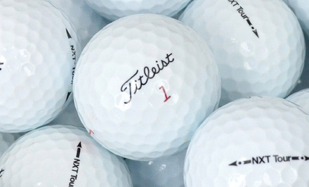 groupon daily deal - 3 Dozen Titleist NXT Tour Premium Golf Balls (Refurbished)