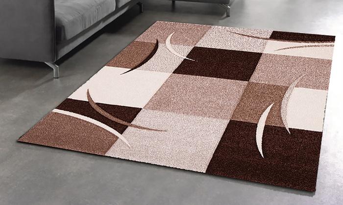 tapis graphique diamond groupon. Black Bedroom Furniture Sets. Home Design Ideas