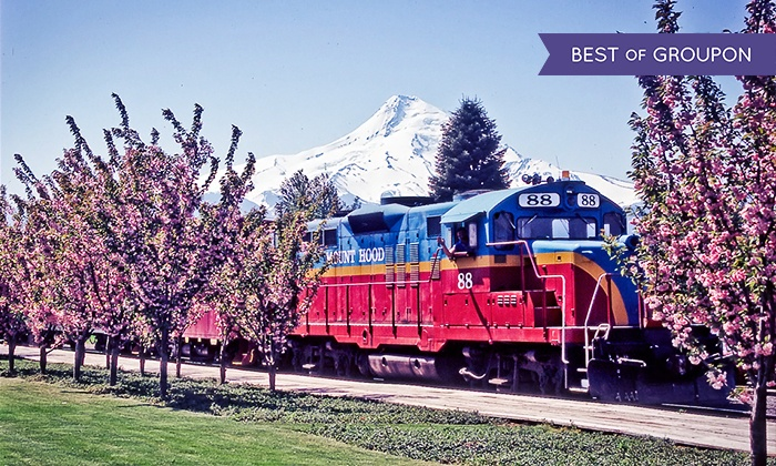 Mount Hood Railroad - Mount Hood Railroad Depot: Train Tour for Two with SkyDome, 1st Class, or Standard Seating from Mount Hood Railroad (50% Off). 12 Dates Available.