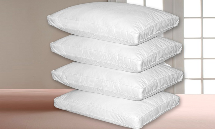 royal majesty 2 or 4pack of quilted feather pillows royal majesty 2