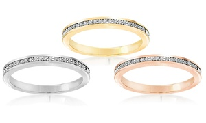 Channel-Set Eternity Diamond-Accent-Band Ring at Channel-Set Eternity Diamond-Accent-Band Ring, plus 9.0% Cash Back from Ebates.