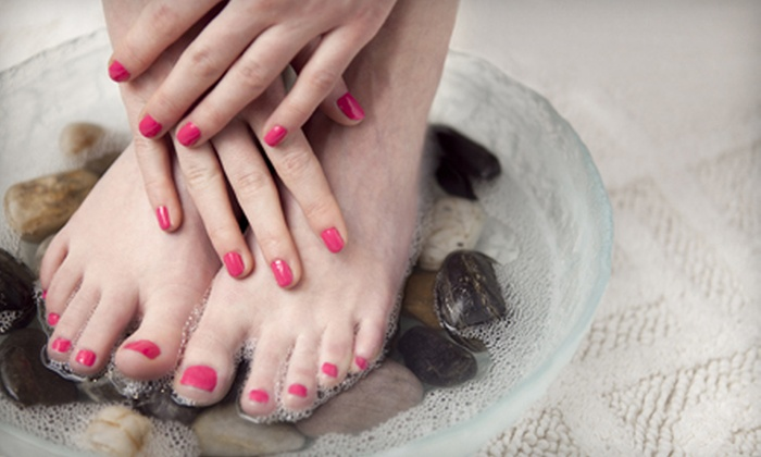 4ever21 Beautique - Carlsbad: One or Two Mani-Pedis at 4ever21 Beautique (Up to 51% Off)