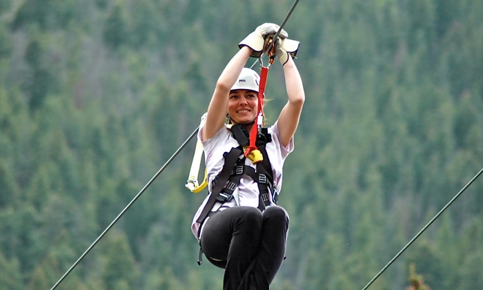 Colorado Adventure Center - Georgetown: Clear Creek Zipline Tour for One, Two, orFourat Colorado Adventure Center (45% Off)
