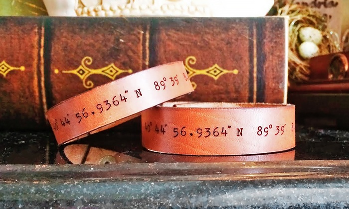 LilyDeal.com: Set of Two LilyDeal Personalized His and Hers Leather GPS Bracelets