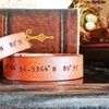 Set of Two LilyDeal Personalized His and Hers Leather GPS Bracelets