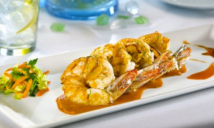 $69 for Steak or Seafood Dinner for 2 w/ Choice of Salad at Biscayne Steak, Sea & Wine (Up to $118 Value)