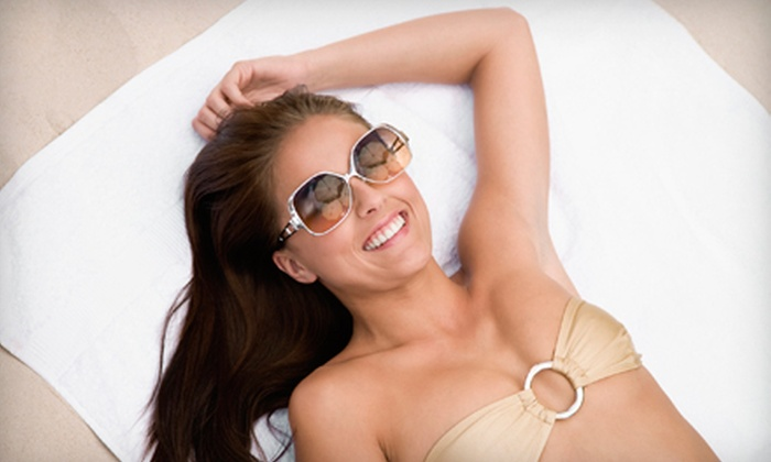 The Lashe Spot - Multiple Locations: One, Three, or Five Spray Tans at The Lashe Spot (Up to 63% Off)