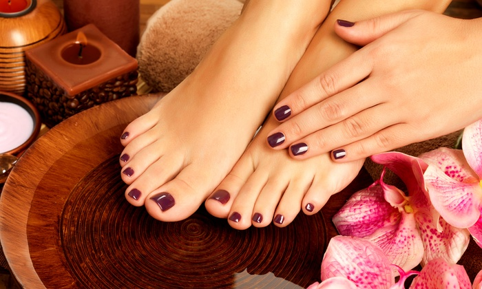 Jessica Jorling at La Belle U Wellness Spa - Canby: One or Two Shellac Mani-Pedis from Jessica Jorling at La Belle U Wellness Spa (Up to 56% Off)