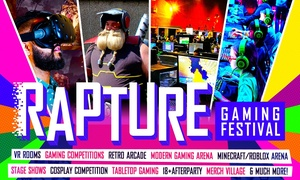 Rapture Gaming Festival: Rapture Gaming Festival – 21 July – 14 October, Five Cities (Up to 35% Off)