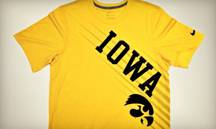 Iowa Book - Iowa City: $10 for $20 Worth of Nike, Champion, Russell, and Under Armour Hawkeye Gear at Iowa Book