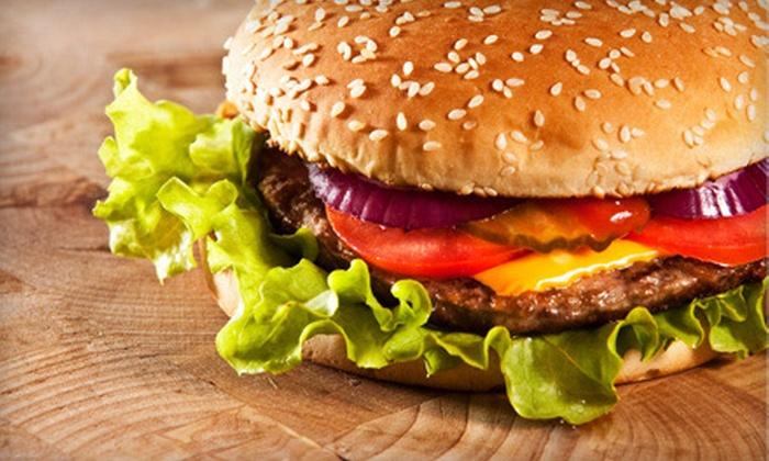 Maxwell McCoys Eatery - London: $10 for Burger Lunch for Two at Maxwell McCoys Eatery ($21.18 Value)