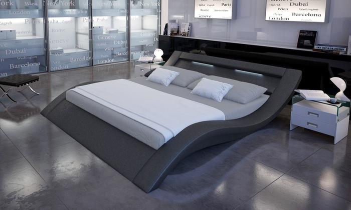 Design Letto Matrimoniale.Letto Matrimoniale Di Design In Ecopelle Varie Dimensioni Disponibili Da 599 A 629