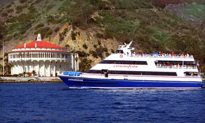 """Catalina Flyer - Balboa Pavilion: $34 for a Roundtrip Ticket to Catalina Island from Newport Beach on the """"Catalina Flyer"""" Cruise Liner ($69 Value)"""