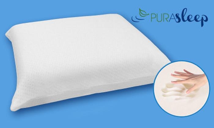 PuraSleep Memory-Foam Travel Pillow: $19 for a PuraSleep Gel-Infused Memory-Foam Travel Pillow ($49.99 List Price)