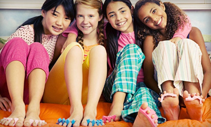 SpiffyTiffy's - Knoxville: $99 for a Spa Party for Up to Five Kids with Mani-Pedis, Makeup, and Updos from SpiffyTiffy's ($200 Value)