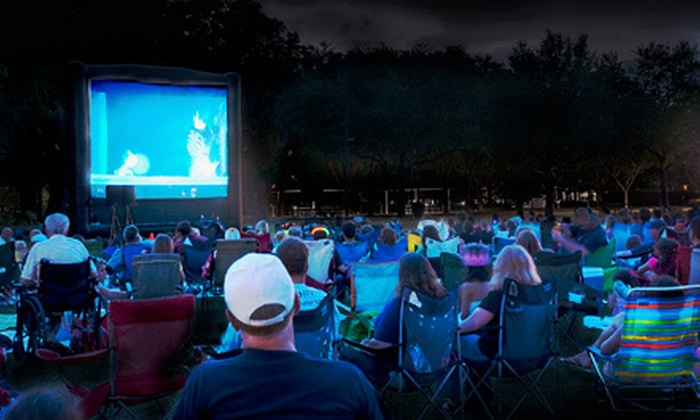 Family Cinema Entertainment - Ogden: 19- or 22-Foot Movie-Screen Rental with Popcorn or Nacho Machine from Family Cinema Entertainment (Half Off)