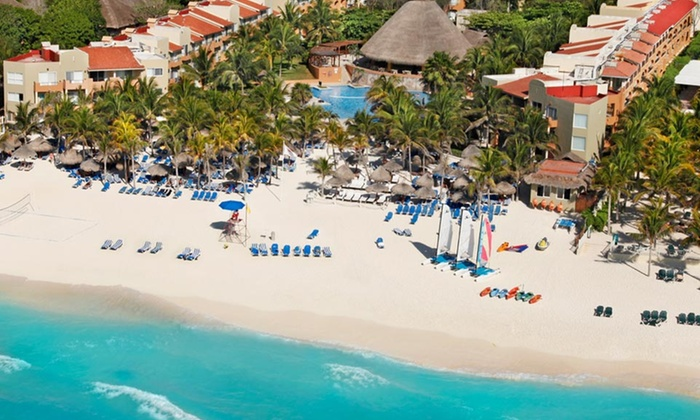 All-Inclusive Viva Wyndham Azteca Trip with Airfare from Vacation Express - Viva Wyndham Azteca: All-Inclusive Viva Wyndham Azteca Stay with Airfare. Includes Taxes & Fees. Price/Person Based on Double Occupancy.