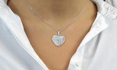 1 o 2 colgantes en forma de corazón con cristales Philip Jones
