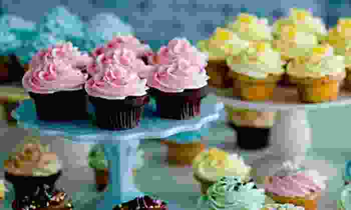 Cupcakes - English Bay: $7 for One Dozen Pre-Assorted Mini Cupcakes at Cupcakes on Denman ($14 Value)