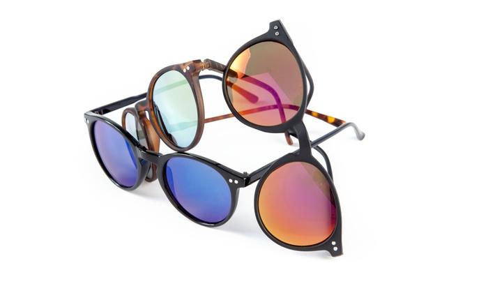 Groupon Goods Global GmbH: Tris di occhiali da sole modello Pantos o Wayfarer a 29,99 € invece di 74,70