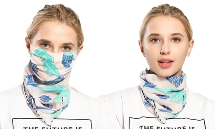 Flower Print Lightweight Scarf and Mask