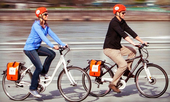 Ejoy Rentals - Pearl: Full-Day Rental of Electric Urban Cruisers or High Performance Bikes for Two at Ejoy Rentals (Half Off)