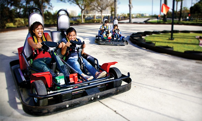 Malibu and Mountasia - Multiple Locations: All-Day Mini-Golf and Go-Karts for Two or Four at Malibu or Mountasia (Up to 51% Off)