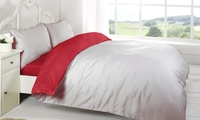 Four-Piece Reversible Duvet Set in Choice of Colour and Size from £10 (Up to 69% Off)