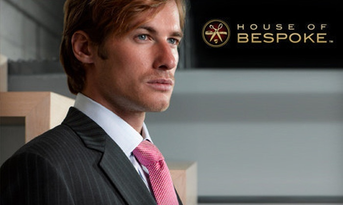 House of Bespoke: One Custom Suit, or Two Custom Suits and Two Custom Shirts from House of Bespoke (Up to 54% Off)