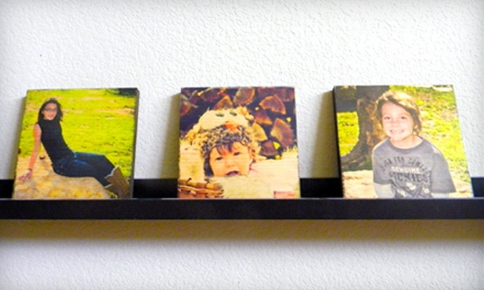 """Picture Bungalow: 8""""x10"""", 10""""x10"""", or Three 7""""x7"""" Custom-Print Wood Canvas Photos from Picture Bungalow"""
